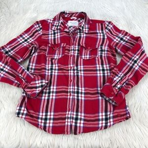 Aeropostale Red Plaid Button Front Shirt